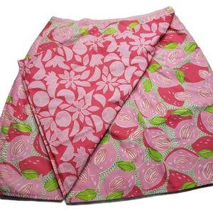 Lilly Pulitzer Sz 4 Wrap Around Skirt Pink